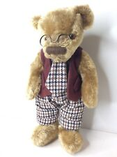 Craft Outlet Teddy Bear Plush Collectible Stuffed Animal Old Man With Clothes