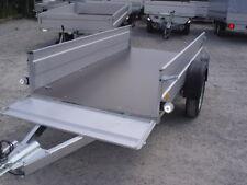 PKW Anhänger 750 kg mit Klappe vorne, 2,65 x 1,25 m extra groß, 40 cm Bordwände