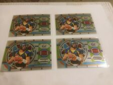 2019 Prizm Draft Picks AARON RODGERS STAINED GLASS INSERT (3) card lot! Packers