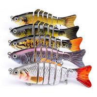 10cm Multi-joint Segment Swimbait Lures Fishing Bait Fish Lure Crankbait Hooks