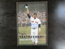Carl Yastrzemski Autograph / Signed Fenway Park Statue Dedication Program HOF 89