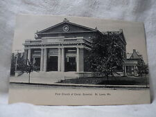 St. Louis Mo Missouri First Church of Christ Scientist early 1900's Postcard