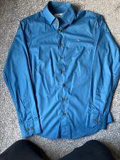 VIVIENNE WESTWOOD Men's Shirt, size 48, Teal Blue, Long Sleeves