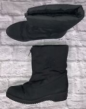 Toe Warmers Women's Black Ankle Boots Size 8.5  Lined Front Zip QB32
