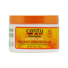 Cantu Shea Butter Coconut Curling Cream for Natural Hair 12oz w/Free Nail File