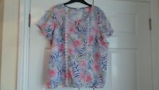 MARKS & SPENCER   INDIGO LADIES  TOP  SIZE - 20