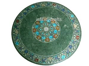 36 x 36 Marble Dining Table Top with Pietra Dura Art Sofa table Cottage Crafts