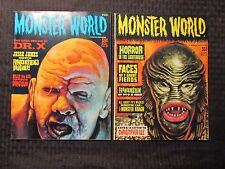 1965 Monster World Magazine #4 Vf- 7.5 #8 Fn+ 6.5 Lot of 2 Dchac