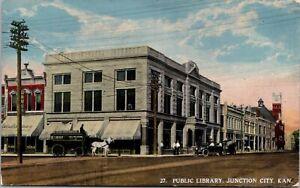 Postcard Public Library in Junction City, Kansas~133339
