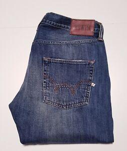 "Men's EDWIN signature branded ED-55 RELAXED designer denim jeans 34""w & 34""L"