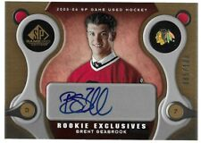 BRENT SEABROOK 2005-06 SP Game Used Rookie Exclusive Auto 085/100