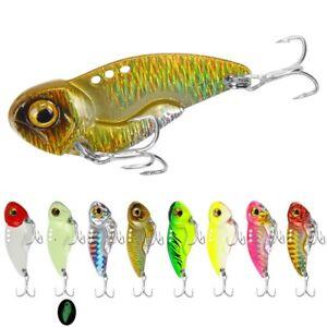 8pcs 8g-20g Lead Metal Jigging Lure Spoon Bait VIB Saltwater Jig Fishing Tackle