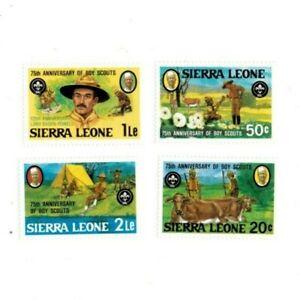VINTAGE CLASSICS - Sierra Leone - 535-8 Boy Scouts - Set Of 4 Stamps - MNH