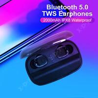 IPX8 Waterproof Bluetooth Earbuds Sports Gym Wireless Headphones in Ear Headset