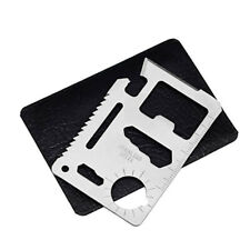 New listing 11-in-1 Multi Tool STAINLESS STEEL Card - Survival Camping Wallet Emergency
