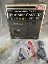 *Rare* Realistic   Portable Cassette Tape Recorder   CTR-30B   Original Box Etc.