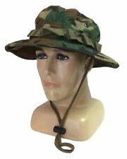 Talla XL Chambergo - boonie - panama camuflaje woodland RipStop estilo militar