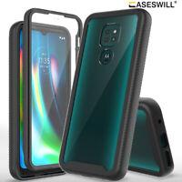 For Motorola Moto G9 / G9 Play Case Full-Body Clear Back Shockproof Phone Cover