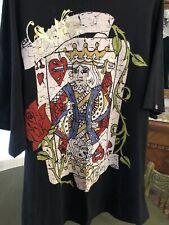 Silver Star  XXL Stripper Angel Wings /Crown king hearts  T- Shirt