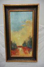 """Art Original Oil Painting Carol Mariott Framed Canvas Signed 29 1/2""""x17 1/2"""" (1)"""