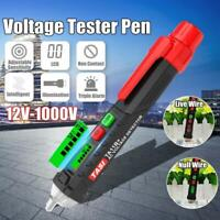 12-1000V AC/DC Non-Contact LCD Electric Test Pen Voltage Digital Tester Detector