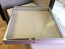 ALLSTATE Medium Aluminum Tempered Glass Counter Top Locking Jewelry Display Case