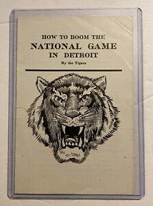 """Cir 1906/1910 """"How To Boom The National Game In Detroit"""" Detroit Tigers Ty Cobb"""