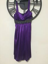Grecian  shimmery jersey party dress S new with tag. Purple