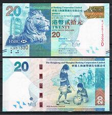 HONG KONG - HSBC  20 DOLARES 2014  Pick Nuevo  SC  UNC