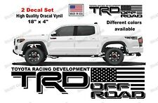 TRD Off Road american flag for Toyota Tacoma & Tundra Bedside (2 set)
