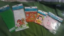 Farm Animals Party bags (Green &Farm),Birthday Banners. Invitations, Paper Mask
