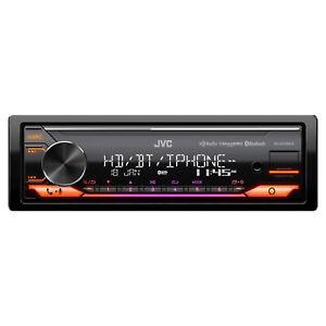 JVC KD-X470BHS Single DIN Bluetooth USB AUX SiriusXM Digital Media Car Receiver