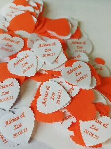 PERSONALISED TABLE CONFETTI for WEDDING in 2021 or 2022 with YOUR NAMES