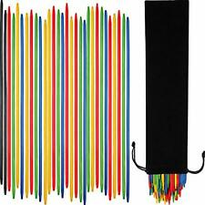 Tatuo 82 Pieces Giant Neon Pick Up Sticks Game in Black Velvet Bag 9.8 Inches...