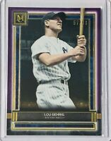 LOU GEHRIG 2020 TOPPS MUSEUM COLLECTION #d/99 CARD #74 NEW YORK YANKEES PURPLE