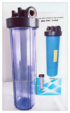 """Big Fat 20"""" Jumbo Size Clear Whole House Water Filter System (1""""Port) No Bracket"""
