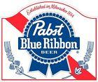 Pabst Blue Ribbon Classic VIntage sticker decal NHRA RatRod Street Rod