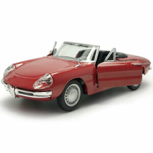 1:32 Vintage Alfa Romeo Spider Model Car Diecast Vehicle Collection Red Gift