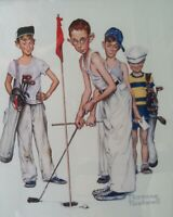YOUNG GOLF PUTTERS     Norman Rockwell 8X10 Poster Print