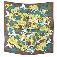 HERMES Silk Ex-Libris en Camouflage Pochette Scarf ~ A stampede of Hermes style!
