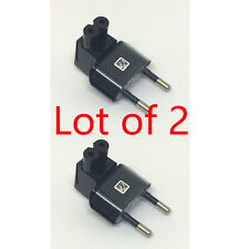 2X 2 Pin Right Angle AC power Plug adapter to Female Connector IEC 320 C7-EU