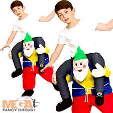 Shoulder Carry Me Piggy Back Ride on Fancy Dress Kids Funny Gnome Elf Costume