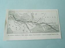 France Indochine carte trajet équipage Paillard le Brix  1929 Image Print