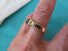 BERNARD K. PASSMAN 18K YELLOW GOLD BLACK CORAL & DIAMOND SIGNED RING SZ 9