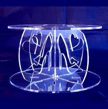 Acrylic High Heels Cross Pillars 10cm High for our Wedding & Party Cake Stands