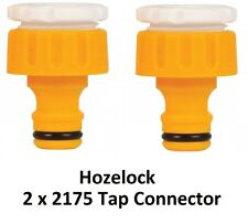 """2 x Hozelock Threaded Outdoor Tap & Hose End Connector 2175 3/4"""" and 1/2"""""""