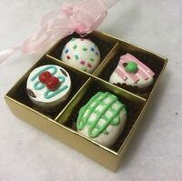 Petit Four Candy Christmas Tree Ornament, Sweet Treats, Box