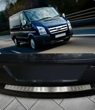 Ford Transit MK7 2006-2013 Chrome Rear Bumper Protector Scratch Guard S.Steel