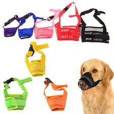 Adjustable Nylon Dog Safety Muzzle Muzzel Biting Barking Chewing All Sizes Ben