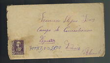 1939 Denia Spain Cover to Concentration camp with letter contents